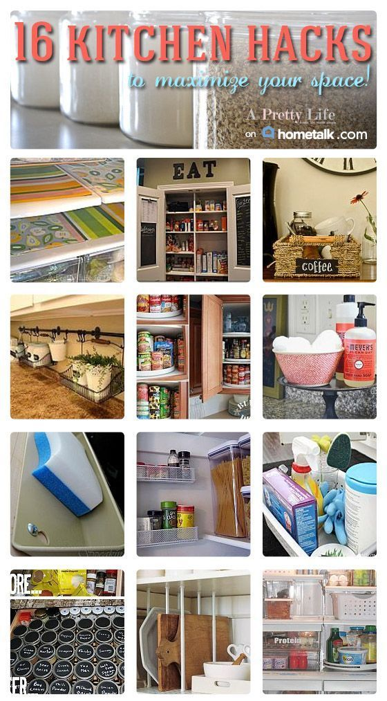 16 brilliant kitchen hacks to maximize your space for Small kitchen hacks