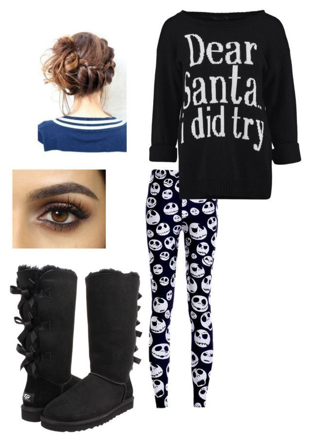 Untitled #77 by weird-fangirl on Polyvore featuring polyvore, fashion, style and UGG Australia