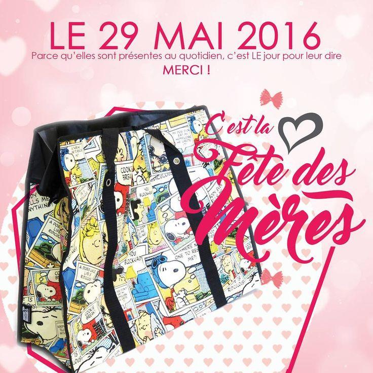 Le 29 Mai, c'est la fête des Mères ! Lily Souhaite une bonne fête à toutes les Mamans ! LOVE <3 #lily #maroquinerie #sac #mother #mothersday #29 #mai #love #shooping #snoopy #cabas #cartoon #toile #chic #classe #mode  Produits disponibles sur www.lestresorsdelily.com
