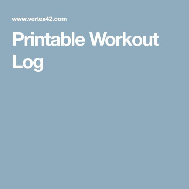 Best 25+ Workout log ideas on Pinterest Workout log printable - workout log sheets