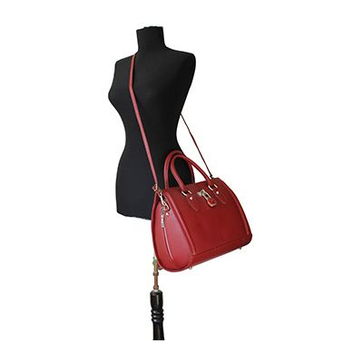 Vintage Gladstone Style Red Leather Handbag - Down to £49.99 from £94.99