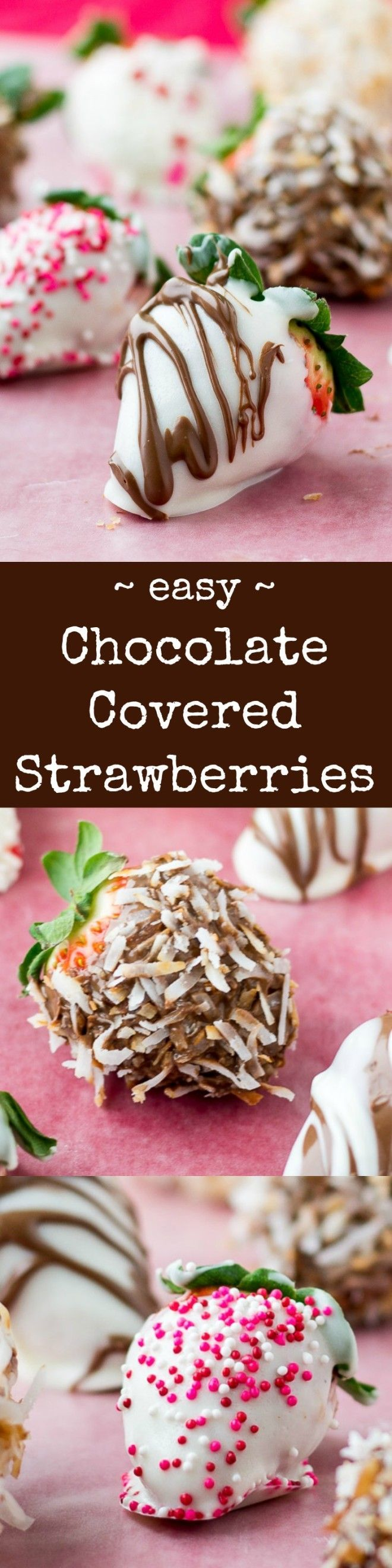 Learn how to make chocolate covered strawberries with the best ingredients and the most creative toppings. These are superior to store-bought in every way!