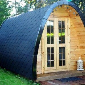 Hobbit Hytte – 2 rums Camping Pod 4 m