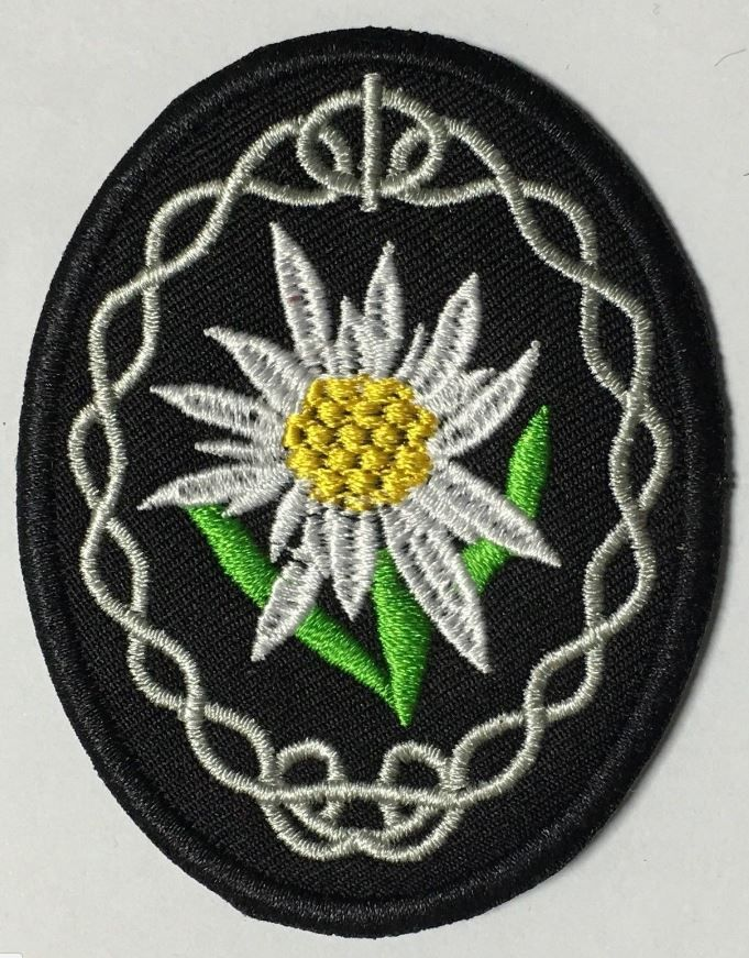WWII GERMAN MOUNTAIN TROOPS EDELWEISS SLEEVE INSIGNIA PATCH
