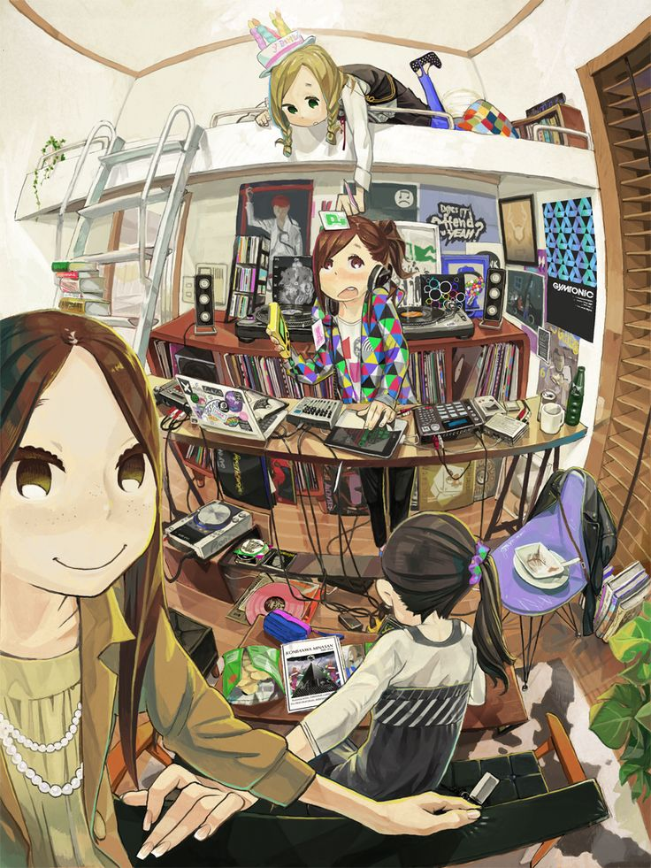 anime illustration 148 best Anime rooms images