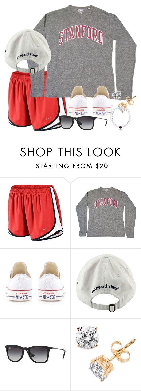 Nathan Scott> by thefashionbyem ❤ liked on Polyvore featuring NIKE, Converse, Vineyard Vines and Ray-Ban