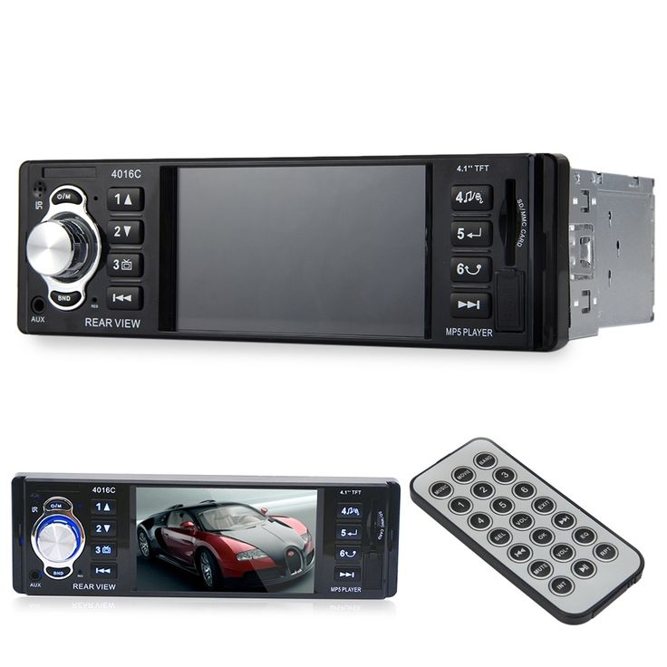 56.30$  Watch now - http://ali0w2.worldwells.pw/go.php?t=32745375650 - Hot sale! 4016C 4.1 Inch HD Display 1 DIN Car Video Player Auto FM Radio Audio Stereo Car MP5 Player with USB SD AUX Ports LCD D