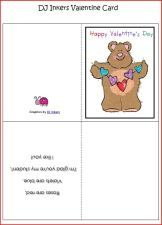 "Free printable ""from your teacher"" Valentine card featuring DJ Inkers clipart via @www.pre-kpages.com"