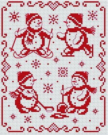 Meer sneeuwpoppen.