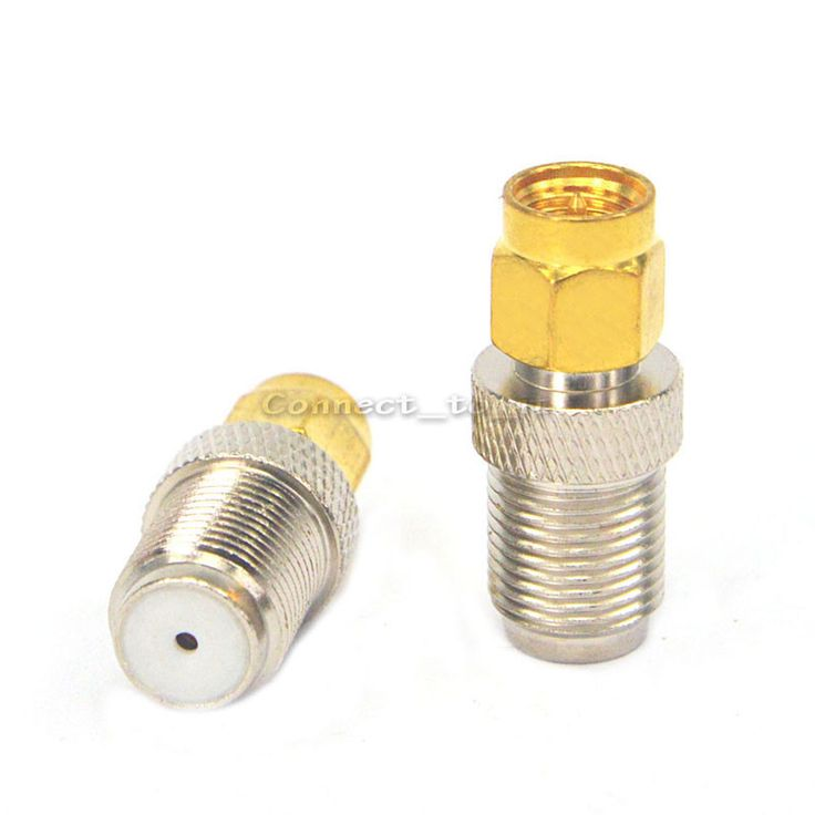 (100pieces/lot) SMA plug male goldplated to F Jack female RF connector adapters #Affiliate