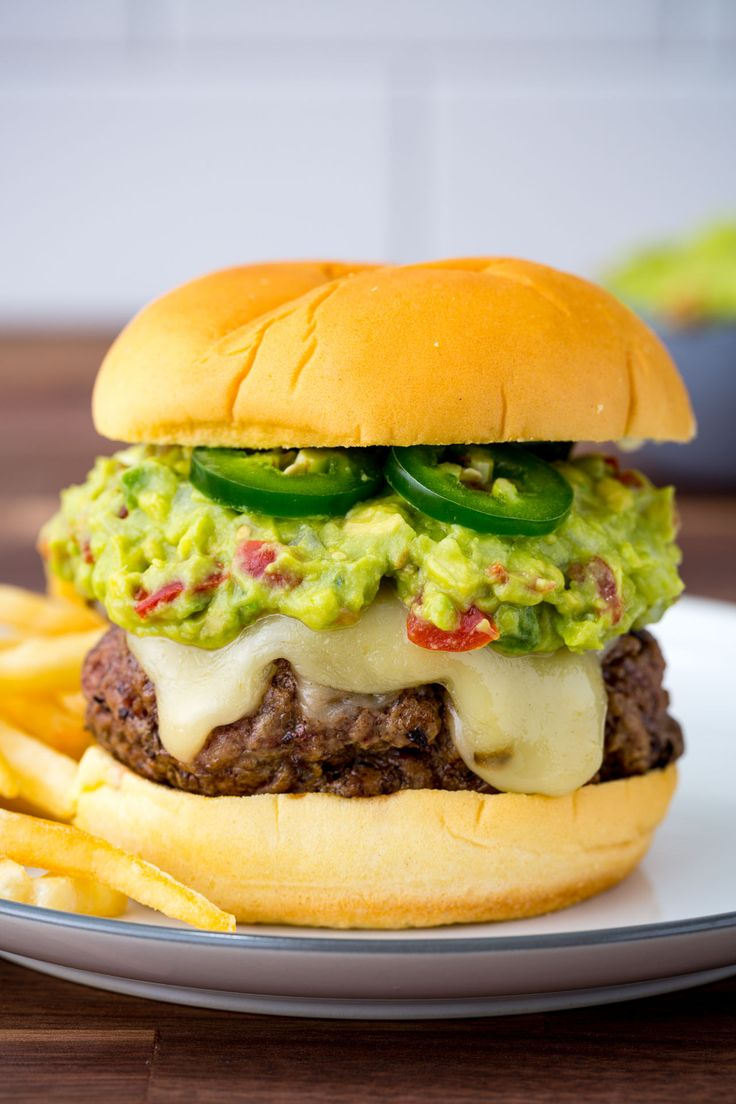 Guacamole Burger on a Martins Potato Roll!