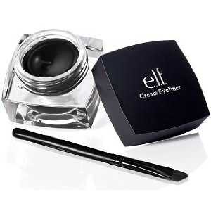 This stuff hardly moves when you set it with black eyeshadow. Stayed on during a 2 hour volleyball practice! You have to warm the pot in your hand a little before using it or it will get really clumped up on the tiny, unhelpful brush that comes with the eyeliner. $2: E L F, Studios, Makeup, Beautiful, Cream Eyeliner, Eyeshadows, Products, Elves, Elf