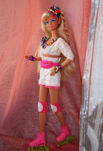 Totally Had this Barbie when I was a kid. I remember getting her for Christmas and making her rollerblade down the hallway in our townhouse because that was the darkest area of the house and her rollerblades lit up.