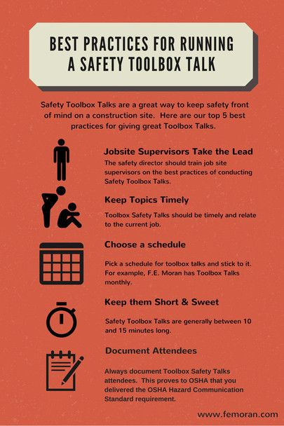Best Practices for Running a Safety Toolbox Talk | Construction Safety | F.E. Moran