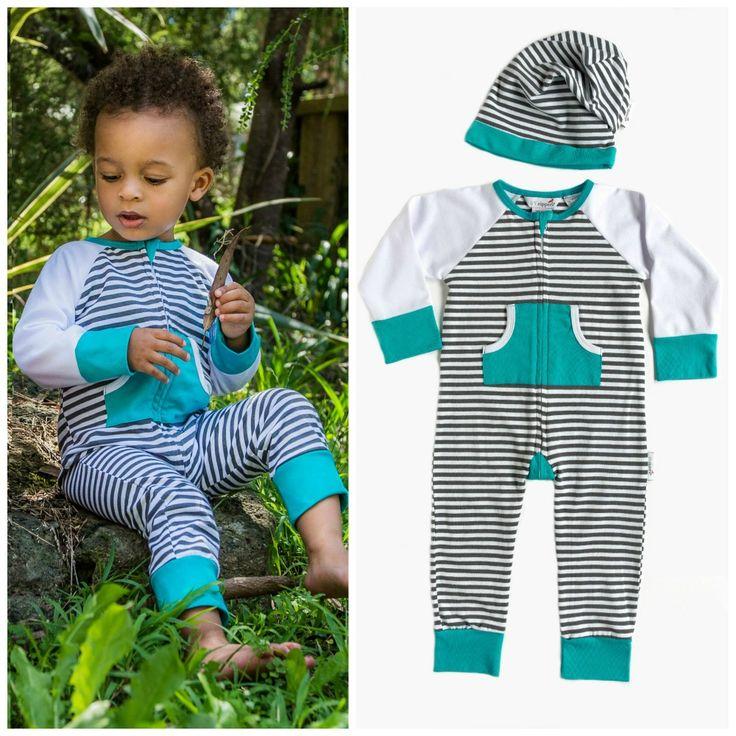 Zip Romper & Beanie Babyshower Gift Set  Newborn - 24 months Li'l Zippers AW15