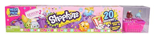 The Shopkins Mega Pack makes it easy for girls to stock up on their favorite characters! Featuring multiple characters and shopping bags shopping basket and a collector's guide this pack gives girls...