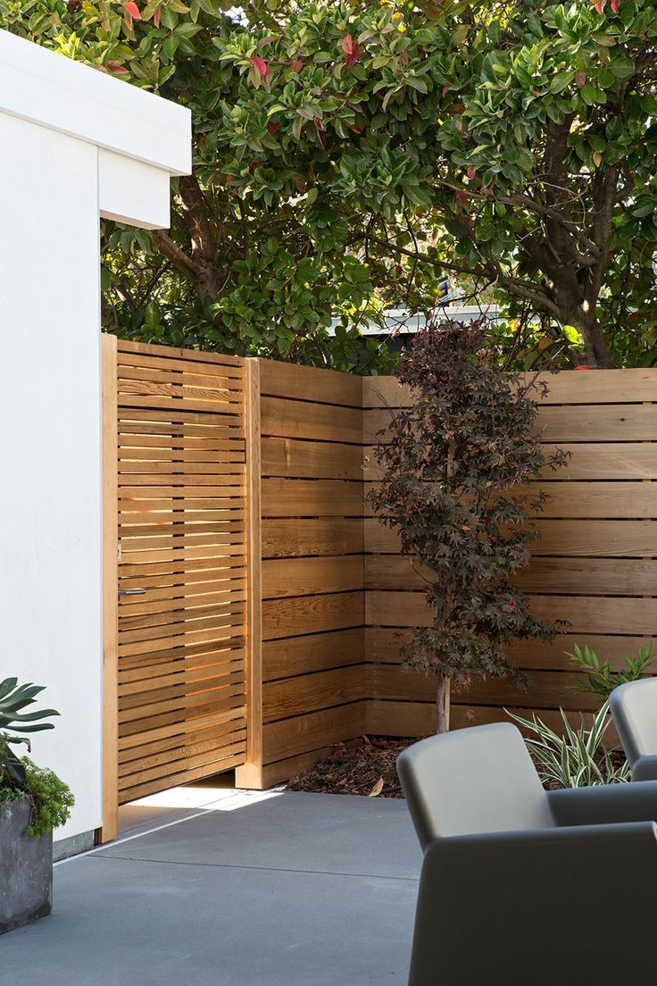 gate different size boards than fence Fence Pinterest