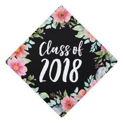 bright floral graduation cap topper grad cap pinterest