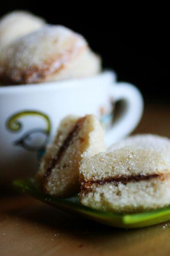 vanilla nutella butterball cookies.