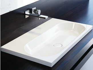 Inset rectangular enamelled steel washbasin CENTRO   Inset washbasin - Kaldewei Italia