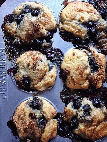 Blueberry muffins with a streusel topping. #good for guests