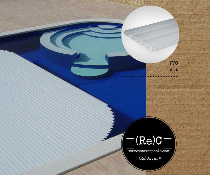 pvc white slatted pool cover | pvc wit zwembadafdekking lamellen | Schwimmbadabdeckung pvc weiss Lamellen