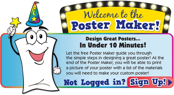 Free Poster Maker, I have not tried it out yet, but think it would be a nice follow up to MY poster lesson--sw