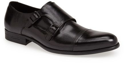 $158, Black Leather Double Monks: Kenneth Cole New York Tribal Chief Leather Double Monk Strap Shoe. Sold by Nordstrom Rack. Click for more info: https://lookastic.com/men/shop_items/194391/redirect