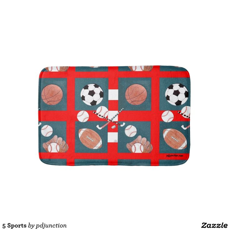 5 Sports Bathroom Mat