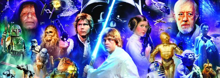 """Puzzle EDUCA """"Star Wars"""", 1.000 piezas #starwars #darthvader #yoda #r2d2 #c3po #lukeskywalker #hansolo #chewbacca #bobafett"""