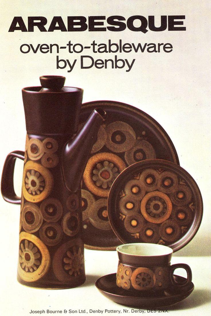 Denby. Arabesque. 1962-63. A Marketing leaflet showing Arabesque.