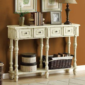 Monarch I 388 48 in. Veneer Traditional Console Table - Bring a touch of classic European beauty to any space with the Monarch I 388 48 in. Veneer Traditional Console Table . Uniquely designed to keep your...