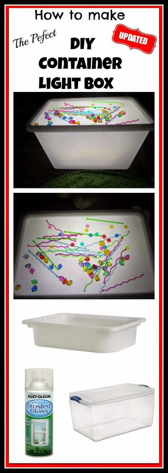 Child craft light table - The Perfect Diy Container Light Box