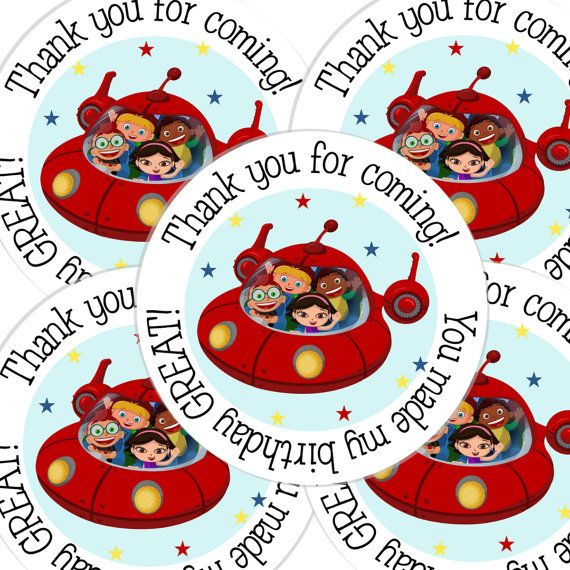 20  2 Inch round Little Einsteins Birthday sticker by bafoodle, $6.00