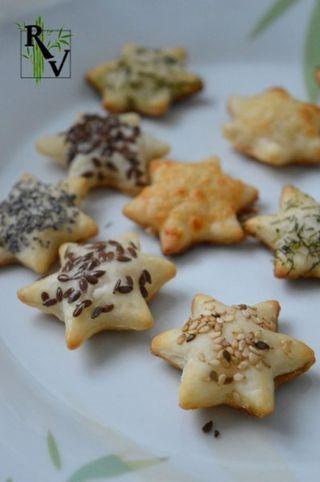 Feuilletés de Noël Salés | Recettes Végétariennes | Bloglovin'