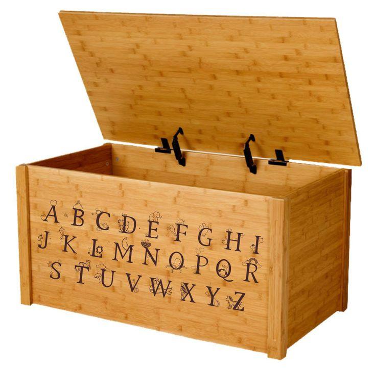 100% Bamboo Alphabet Toy Box http://yourkidzone.com/bamboo-alphabet-toybox