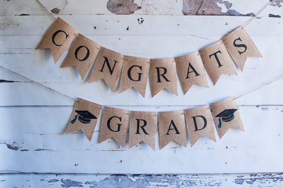 Class of 2019 Banners, Graduation Banner, Graduation Party Decor, Graduation Party Decorations, 2019 Graduation Banners, Burlap Banner, B436