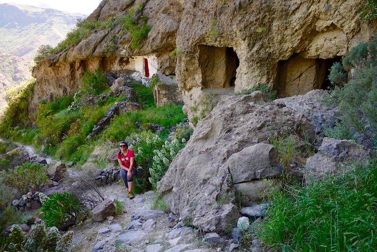 Acusa Seca - Wanderung entlang Höhlenhäuser - Artenara - Gran Canaria