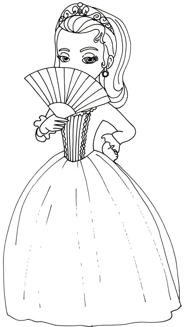 Amber Sofia The First Coloring Page Disney Coloring Pages Printables Disney Princess Coloring Pages Coloring Pages
