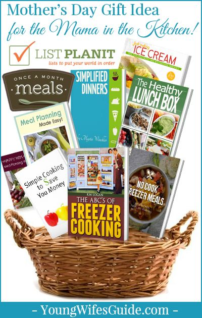 For the Mama in the Kitchen who wants to learn how to make freezer meals, healthy lunches, delicious ice cream and balance homemaking...this Mother's Day Gift Basket is for you!