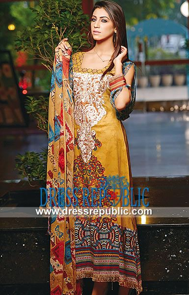 Ajwa Lawn Prints 2014 | Pakistani Lawn Online  Pakistani Lawn Online: Buy Online Ajwa Lawn Prints 2014 (First Volume) at Affordable Prices in Atlanta, Georgia, United States. We Deliver Worldwide. by www.dressrepublic.com