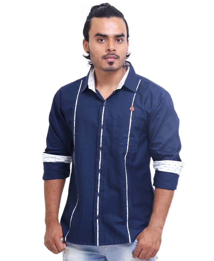 Dark Blue Party Wear Shirt
