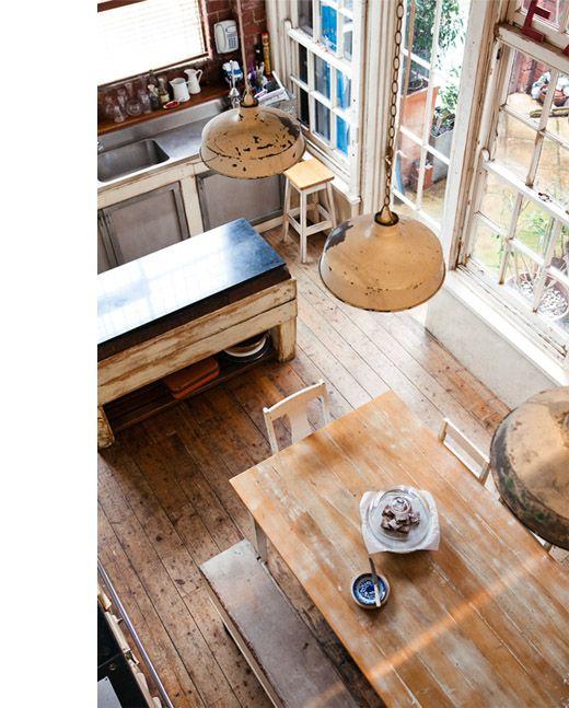 Adriane-kitchenoverhead - lightsDecor, Ideas, Rustic Industrial, Interiors, Kitchens Dining, Rustic Kitchens, House, Pendants Lights, Design File