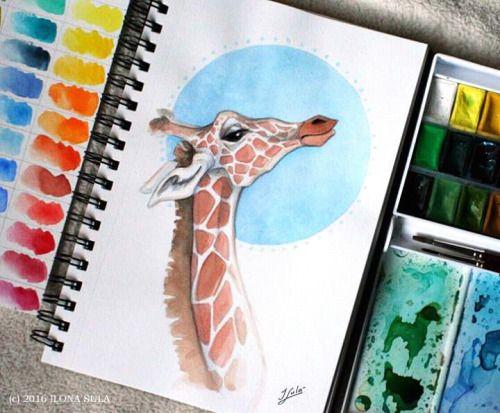 Sketch giraffe by Ilona sula