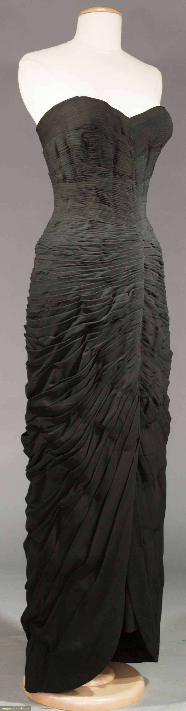 """MOLYNEUX COUTURE & GUGGENHEIM GOWNS, 1930-1950s 