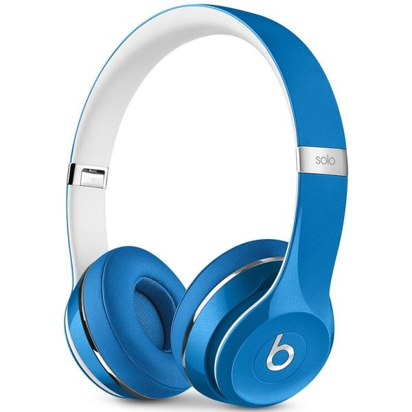 Beats By Dr. Dre Solo 2 Luxe Headphones ($200) ❤ liked on Polyvore featuring accessories, electronics, tech, luxe blue, blue headphones, beats by dr dre headphones and beats by dr. dre