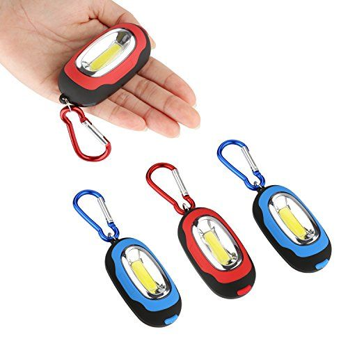 Accmor 4 PCS Small Keychain Flashlight  SuperBright High Lumen Pocket Led Flashlight Most Powerful Strobe Flashlight with Magnetic  Carabiner Red  Blue * Click on the image for additional details.(This is an Amazon affiliate link and I receive a commission for the sales)