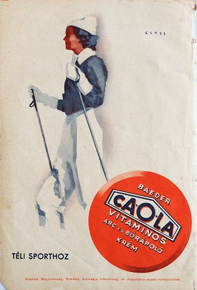 Caola - for winter sports / Caola - téli sporthoz 1930