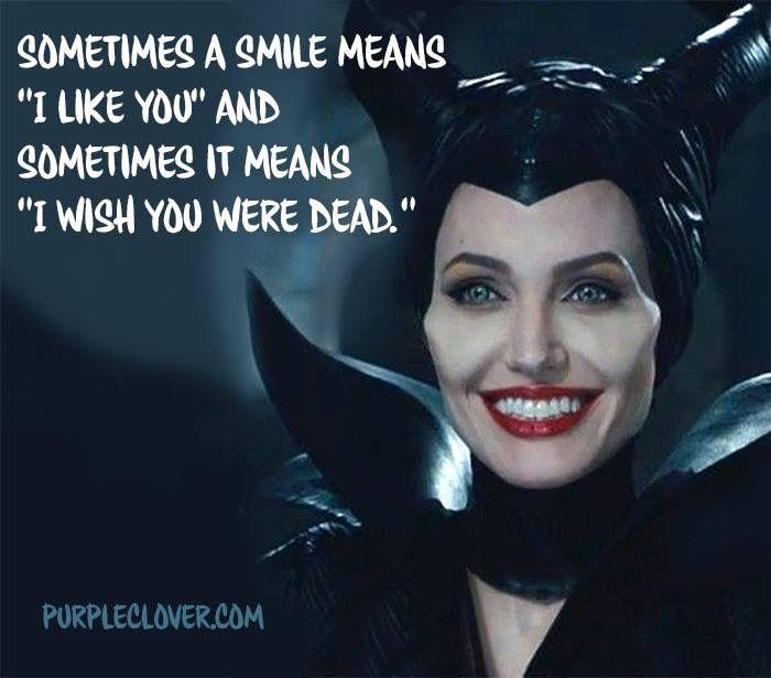 Hahaha. Maleficent QuotesMaleficent FunnyDisney ...