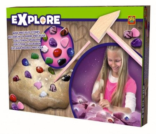 MAŁY ODKRYWCA - Poszukiwanie kamieni szlachetnych - zabawki kreatywne dla dziewczynek